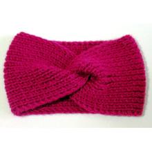 Bande à cheveux tricot à main