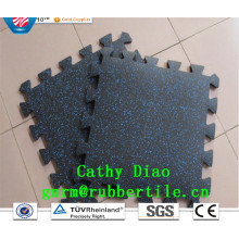 Interlocking Gym Flooring Anti-Slip Rubber Flooring Gym Flooring Mat Sports Rubber Flooring