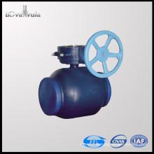 Válvula de esfera de soldadura DIN DN150 Válvula de esfera de alimentação de água PN16 PN25