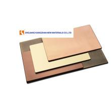 Panel compuesto de cobre de 4 mm para revestimiento de paredes exteriores.