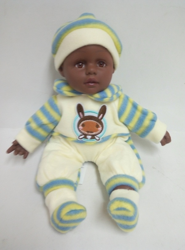 African Vinyl Baby With Open Eyes