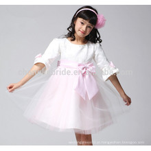 Nova 3/4 manga garota primeira comunhão vestido renda online tutu flor menina vestidos com arcos