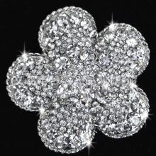 New Arrival Fashion Jewelry Rhinestone flower Brooch Pin Crystal metal alloy bridal Brooches wholesale