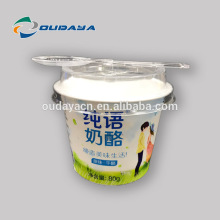 Eco-friendly plastic yogurt cup with spoon