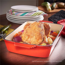 Home-Baked Cast Iron Roasting Dish Pan