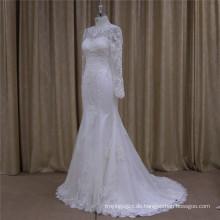 2016 Exquisite Perlen Brautkleid Spitze Brautkleid