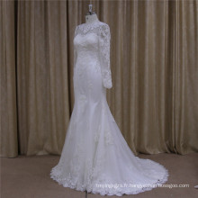 2016 exquis perles robe de mariée en dentelle robe de mariée