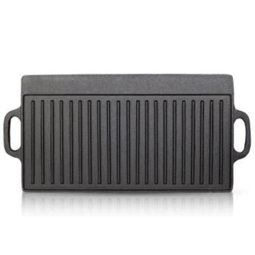 23x9inch cast iron double side grill pan