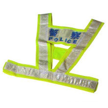 Chaleco de seguridad reflectante de poliéster de alta visibilidad / chaleco de seguridad chaleco de advertencia