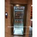 Eje de vidrio agradable estable corriendo pequeño mini ascensor de casa