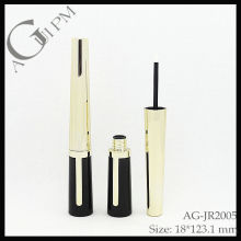 Plástico especial forma delineador tubo/Eyeliner recipiente AG-JR2005, embalagens de cosméticos do AGPM, cores/logotipo personalizado