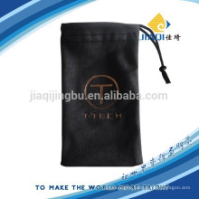 Single drawstring microfibre case with embossed