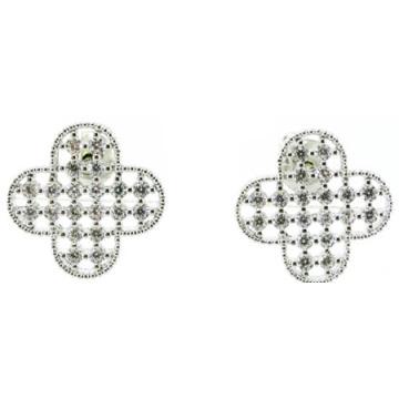 Buena calidad y Fashion Lady Jewelry 3A CZ 925 pendiente de plata (E6525)