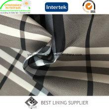100 Polyester 260 t Twill Print Futter Classic Big Check-Muster für Damen Wind Mantel und Jacke