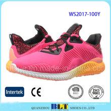 Hot Sale Stock Lycra Upper Style Zapatillas de deporte para mujer