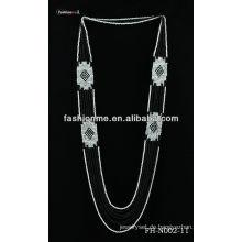 Doppel-Farbe Perle Halskette