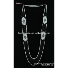 Collier de perles de couleur double