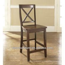 Chaise haute en bois haute tabouret de bar XYH1009