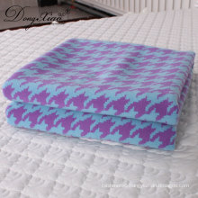 Wholesale Custom Soft Comfortable Large Size Throw Chunkyknit Thick Soft Mexican Throw Merino Wool Blanket
