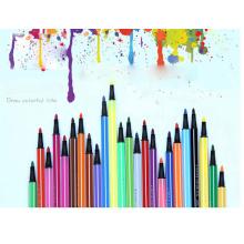 Kinderregenbogenfarbenplotter, der digitalen Stift zeichnet