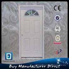 Porta de aço exterior de vidro de Fangda Prehung