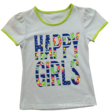Fashion Girl Kids Clothes Letter T-Shirt with Embroider Sgt-035