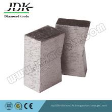 Segment de diamant de forme de K pour la coupe de granit