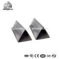 Tube triangulaire en aluminium anodisé 6061 t6 10mm