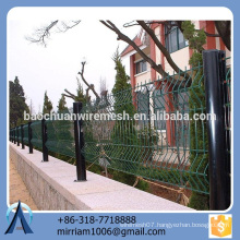 hot sale new design high quality safe pvc coated garden fence triangle bending fence
