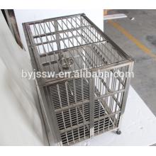 Grandes cages à chien en acier inoxydable