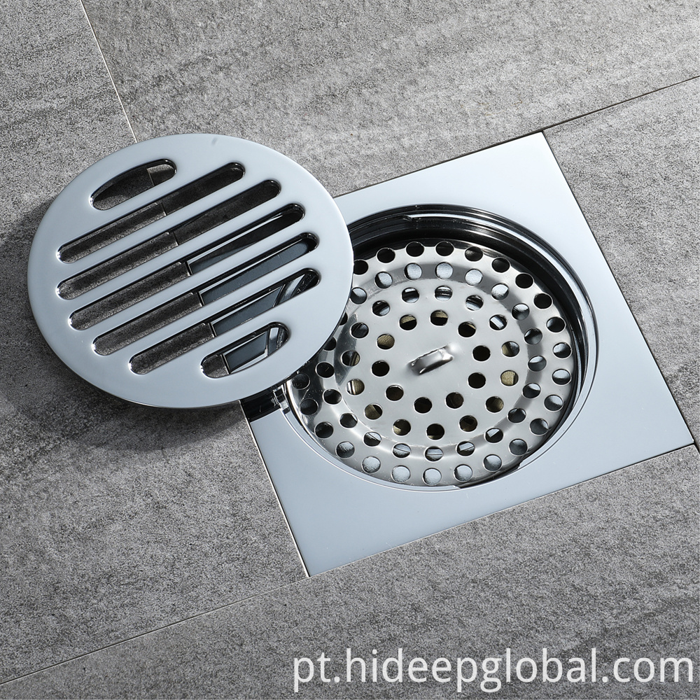 Square Anti-odor Brass Floor Drain