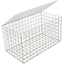 Customized Carton Packaging Galvanized Wire Mesh 2X1X1M Gabion Basket Box Stone Cage Fence Retaining Wall Garden Fence