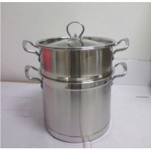 Popular Design Stainless Steel Steamer Pot for Streaming a