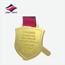 Internacional de carreras de chapa de oro fábrica de nuevo diseño de China medalla