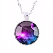 gros haut de gamme mode personnalité galaxy collier bijoux