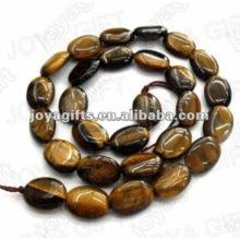 10x14MM Perles ovales plates en pierre tigereye naturelles