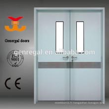 Portes d'hôpital en acier à double porte POUR CORRIDOR