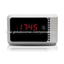 Super Night Vision Clock Network Camera, Compatible with iOS and Android OS, Wi-Fi