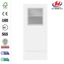 30 in. x 80 in. Smooth Flush Hardboard Solid Core Primed Composite Interior Door Slab with Utility Window