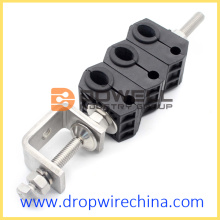 Outdoor wire anchor feeder cable clamp