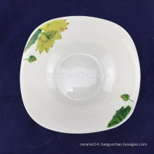 plain white porcelain square bowl