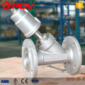 thread connect pneumatic angle seat valve