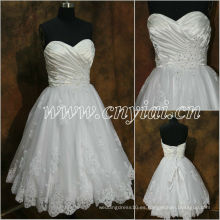 JJ2886 rebordeó el vestido de boda sin mangas del cortocircuito del cordón del amor 2013