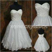 JJ2886 Beaded Sleeveless Sweetheart Lace Vestido de casamento curto 2013