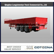 Tri-Axle Side Wall Twist Locks Flatbed Semi Trailer Cargo Trailer