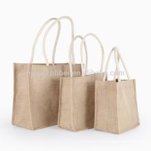 Promotional eco friendly reusable jute tote bag wholesale
