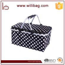 Bolso de cesta plegable más fresco aislado Cesta de picnic al aire libre