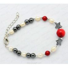 hematite freshwater pearl bracelets