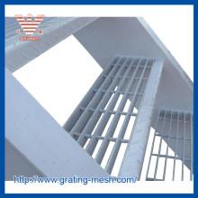 Decking de grille en acier / grille en acier d'escalier lourd
