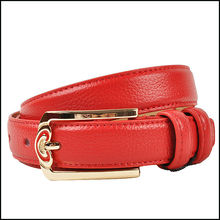 HOT!!super popular red elegant ladies colored leather belt strap
